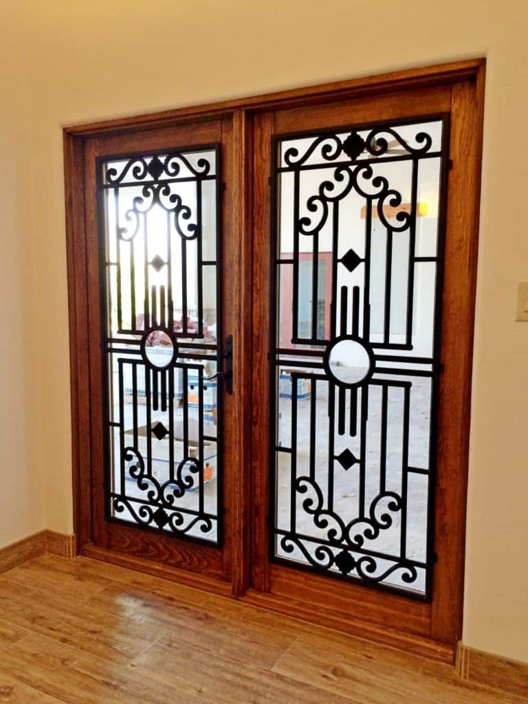Glass Door Insert Installation Faux Iron Design
