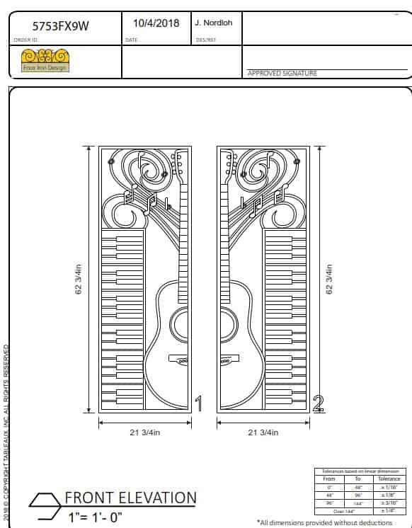 Custom Double Entry Door Panel Design