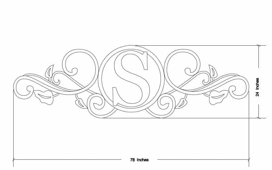 Custom Monogram In a Design