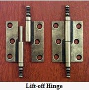 Lift Off Hinges